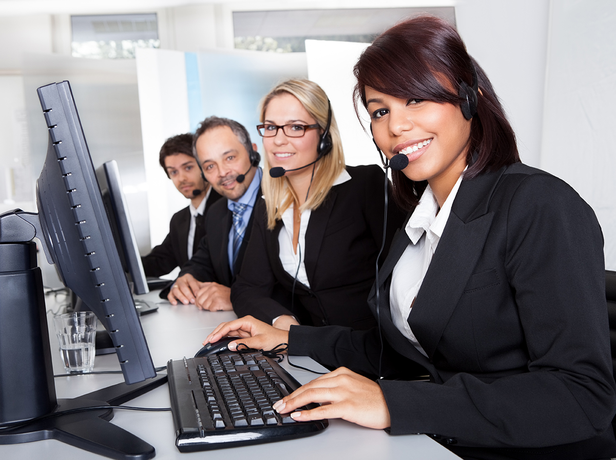 Customer service support people